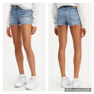 Levi's X Peanuts 501 Shorts Size 31 NWT
